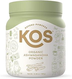 KOS Organic Ashwagandha Powder - Pure Ashwagandha Root Powder - Natural Anxiety & Stress Relief, Promotes Adrenal Health -...