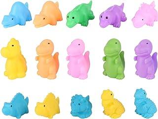 TOYANDONA 20pcs Water Bath Toy Pinched Dinosaur Shower Toys Bathtub Floating Toy for Toddler Infant Bathroom Goodie Bag fi...