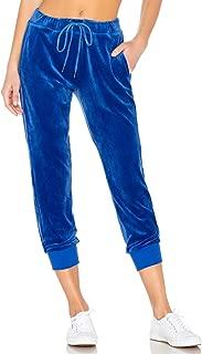 Sanctuary Velour Track Jogger Pants, Blue, XXS