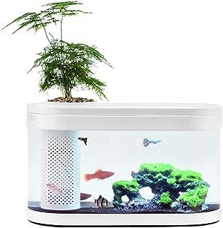 Docooler Pecera Ecosistema pequeño Agua ecológico jardín Acuario Transparente