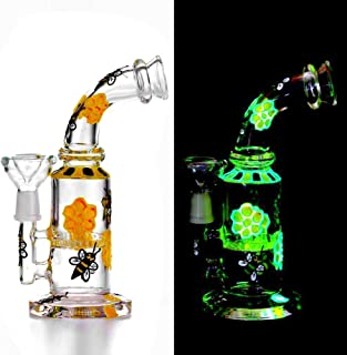 Saigee Tech Hand Painted Flower bee Glow in The Dark Decorate 7.5 Inches Small rigs