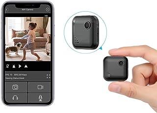OUCAM 超小型カメラ 小型隠しカメラ WiFi スパイカメラ HD1080P超高画質 無光暗視 遠隔監視 動体検知 警報通知 防犯対応 犯罪防止IOS/Android遠隔操作 日本語取扱書付