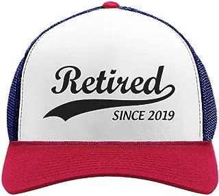 Tstars Retirement Gift for Men Women Retired Since 2019 Funny hat Trucker Hat Mesh Cap
