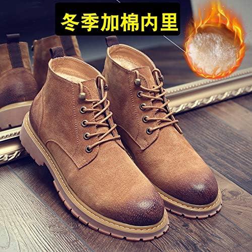 LOVDRAM Chaussures En Cuir Pour Hommes Bottes D'Hiver En Coton Tide Chaussures Montantes Pour Hommes Chaussures En Cuir Chaussures Martin Chaussures Bottes Pour Hommes En Cuir Porcs saco mode Faible P