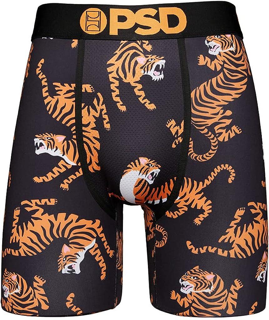 PSD Underwear Men's Tigers Printed Boxer Brief