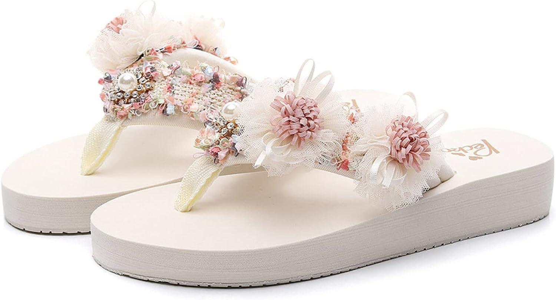 Women's Max 70% OFF Flip Flops Slippers Sweet Comfo Shoes Brand Cheap Sale Venue Party Flower Beach