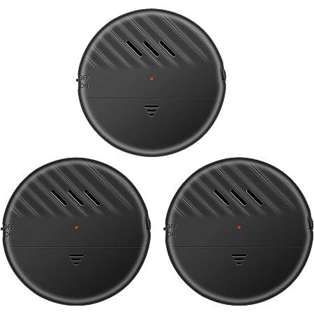 ウィンドウアラーム 3個パック 大音量120dBアラーム 振動センサー ほぼすべての窓に対応 ガラス破壊セキュリティアラームセンサー 低バッテリーLEDインジケーター (Black-3)