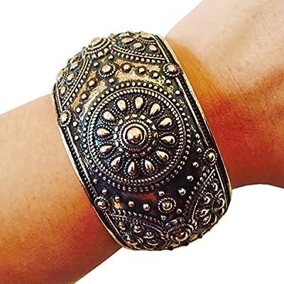 Fitness Activity Tracker Bracelet for Misfit Shine - The MELISSA Antiqued Engraved Bangle Misfit Shine Bracelet
