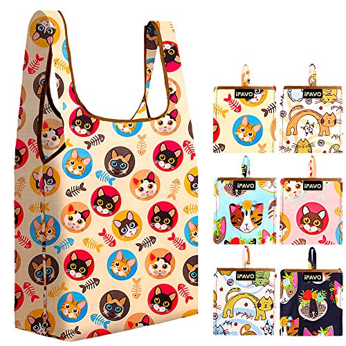 Reusable Shopping Fabric Tote Bags Packable Grocery Small Pouch Machine Washable