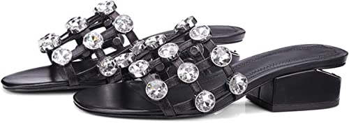 happy&live Genuine Leather Basic Casual Sandals damen Summer 2019 damen High Heel schuhe Größe 34-39 LY832 schwarz-1 4.5