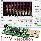PICcircuit iCP12 - USBStick [1mV, USB Oscilloscope, 6 ch Analog Inputs, PC DAQ, Data Logger]