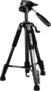 ZoMei Z666 Camera Tripod Lightweight Travel Aluminum Tripod 3-Way Pan Head Tripod for Nikon Sony Canon DSLR DV Video with Carrying Bag(Black)