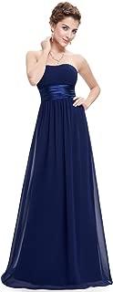 Women's Strapless Ruched Bust Chiffon Long Sexy Evening Dress 09955