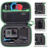 Carrying Case for GoPro Hero 8, 7 Black,6,5, 4, Black, Silver, 3+, 3,Hero(2018) and Accessories,HSU Protective Security Bag, Storage Solution for Adventurers-Upgraded Interior Foam