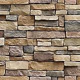 Vimoon Stone Wallpaper, PVC 3D Effect Blocks...