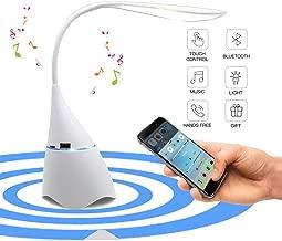 Lámpara de Lectura con Altavoz Bluetooth, Uplayteck Lámpara de Escritorio LED Recargable , Lámpara de Mesa para el Cuidado de Los Ojos, Sensible al Tacto de Control, Luz Ajustable Libremente para Estudiar Trabajar Leer Dibujar