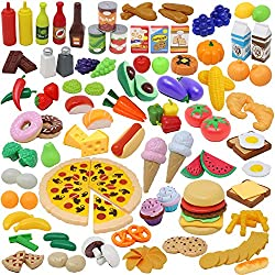 top rated JOYIN Play Food Set 135 pieces Cooking set Market education Role play, food … 2021