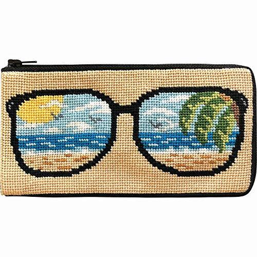 Stitch & Zip Eyeglass Case Needlepoint Kit- Life's a Beach