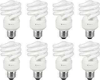 Compact Fluorescent Light Bulb T2 Spiral CFL, 5000k Daylight, 13W (60 Watt Equivalent), 900 Lumens, E26 Medium Base, 120V, UL Listed (Pack of 8)