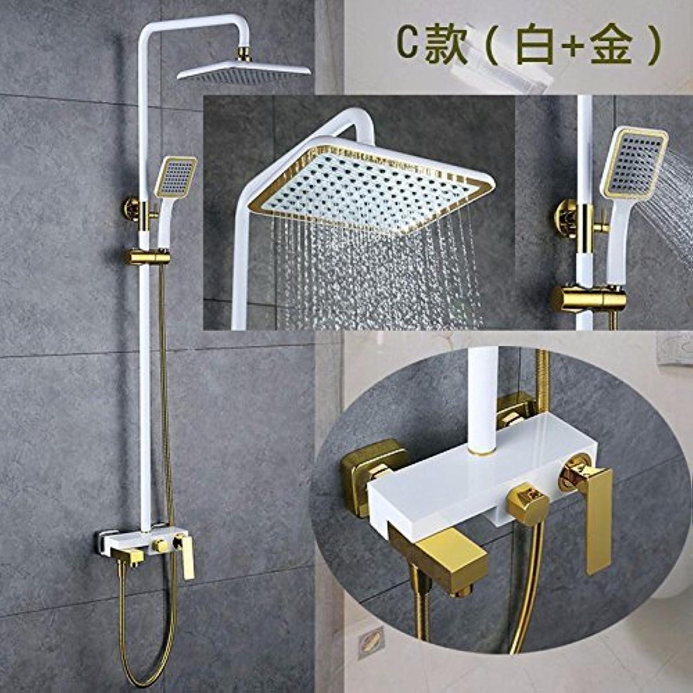 Volle Kupfer Bad Dusche stellt drei Funktionen der Farbe an der Wand angebrachten Wasserhahn, B aufgehoben werden kann.