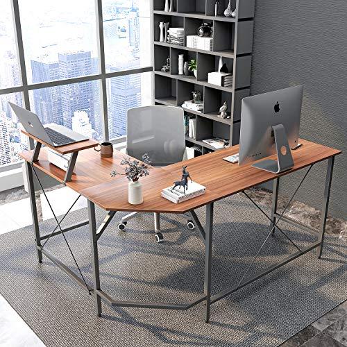 Cubiker Modern L-shaped Computer Office Desk