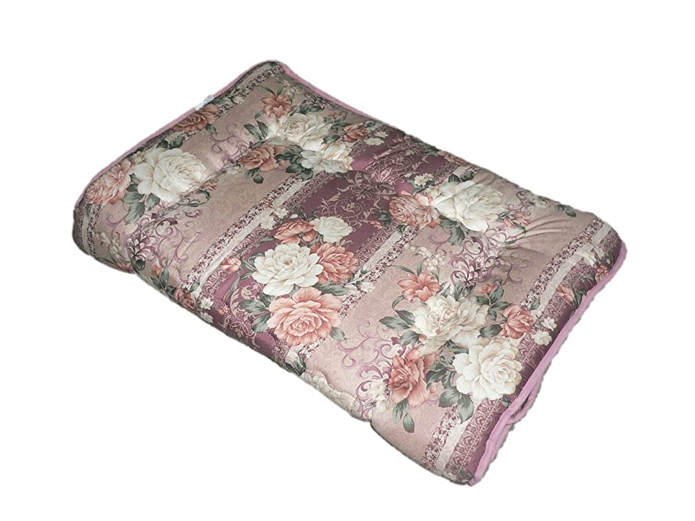 吹きさらし手段仕方エブリ寝具ファクトリー 日本製 軽量 敷布団 シングルロング (ピンク系) おまかせ柄 フランス産羊毛わた使用 羊毛混 固綿 敷き布団