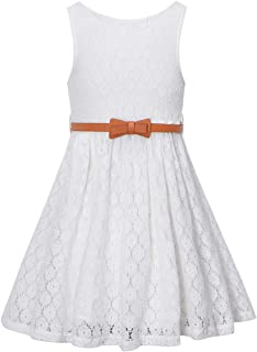 Girls' Lace Dress with Belt
