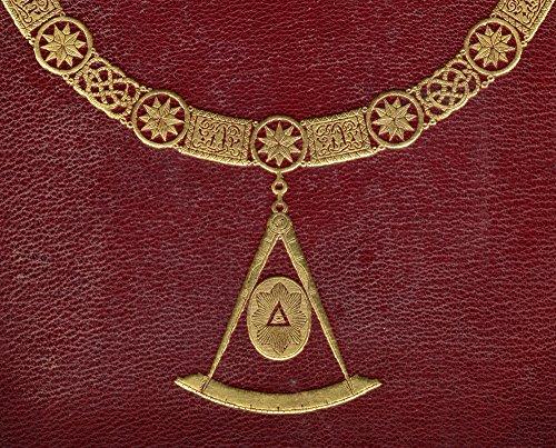 BrainBoosters Pôster com símbolos maçônicos da capa da história da maçonaria publicado por Thomas C. Jack London 1883 44; 81 x 66 cm