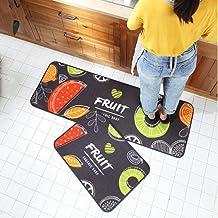 Kitchen Mat Non-Slip Soft Bathroom Rug Wear-Resistant Doormat Runner Carpet Floor Mat Set 40x60+40x120cm