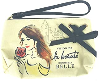 Disney Parks Belle Beauty and the Beast Floral Yellow Cosmetic Bag