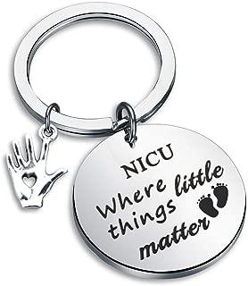 Zuo Bao NICU Nurse Gift Newborn Baby Nurse Gift NICU Where Little Things Matter Keychain NICU Nurse Life Neonatal Nurse Appreciation Gift