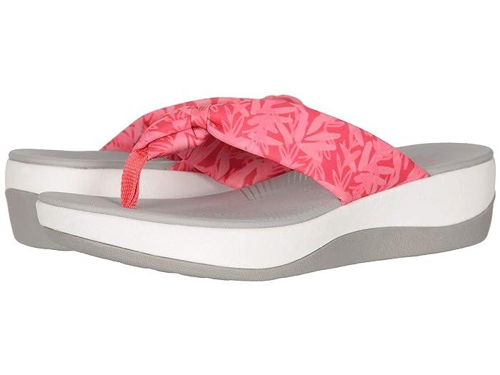 Clarks  Arla Glison (Berry Pink Floral Textile) Womens Sandals