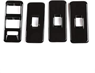 لسيارة لاند روفر رينج روفر الرياضية L320 2005-2008، ABS فضي/أسود / فضي غطاء مفتاح رفع نافذة السيارة ملصقات السيارة ملحقات ...