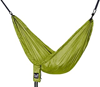 Better Outdoor Supply Portable Lightweight Nylon Parachute Durable Hammock with 2 Heavy Duty Steel Carabiners Hanging Straps for Camping, Travel, Outdoor and Indoor Use   Travel Essential