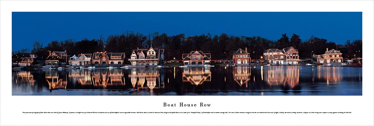 Blakeway Worldwide Panoramas Unframed Import Row-Blakeway Pa Boat House Max 89% OFF