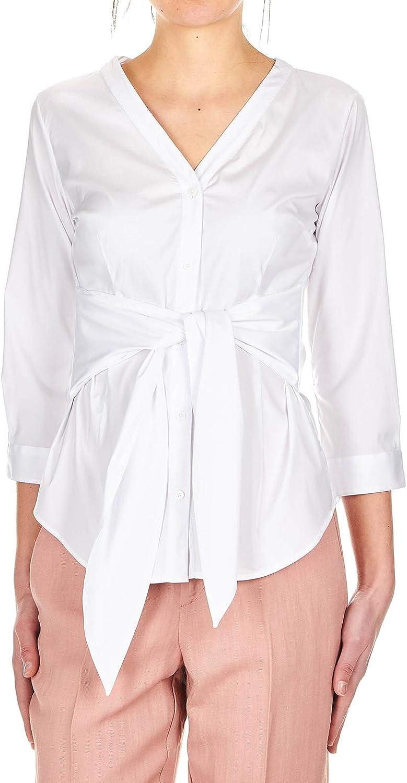 Himon's Women's 3200076710 White Cotton Shirt
