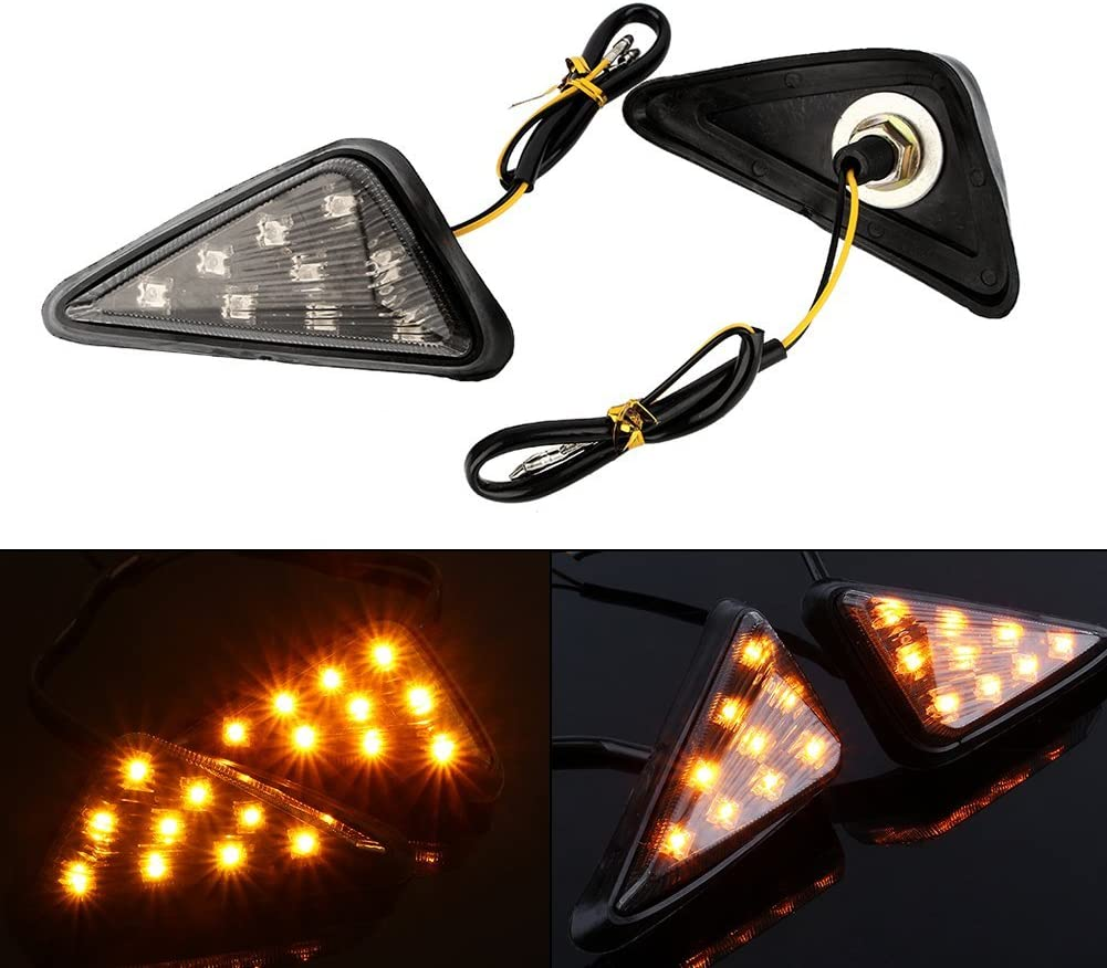 Cheap super special price Yolu 2PCS Motorcycle Amber LED Lights Indicator Signal 18 Ranking TOP14