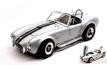 NEW Lucky Die Cast LDC92058GY Shelby Cobra 427 S/C 1964 Grey W/Black Stripes 1:18