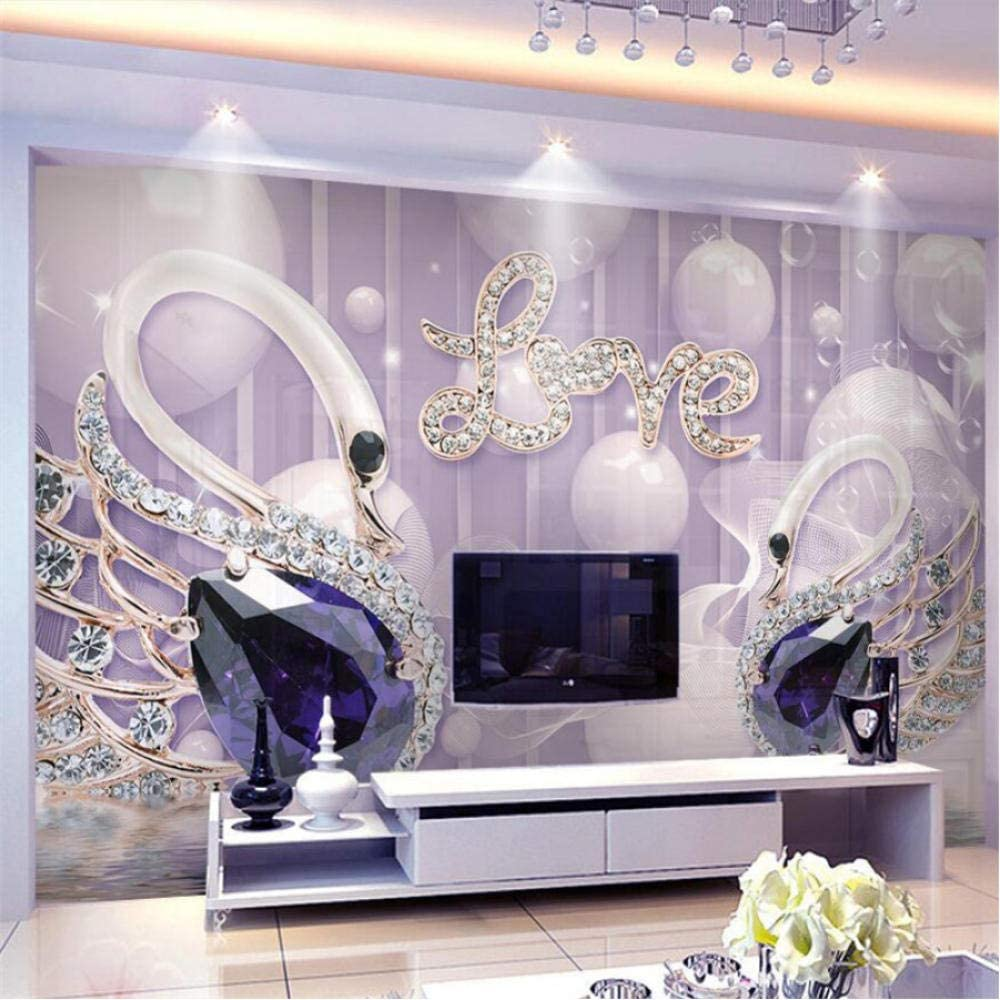 Clhhsy Custom Credence Wallpaper 3D Love 5D Background Ranking TOP13 Jewelry Wall Swan