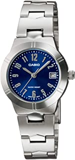 Casio Womens Quartz Watch, Analog Display and Stainless Steel Strap