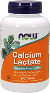 NOW Supplements, Calcium Lactate, Easy Swallow Tablets, Supports Bone Health*, 250 Tablets