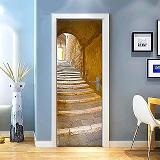Mer Terrasse,Chambre Bureau Salon D/écoration Mur Salon Cuisine Salle Bain Toilettes Couloir Imperm/éable 3D Creative Cadeau XKLBO Autocollant De Porte Stickers