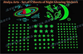 Atulya Arts 165 PCS Night Glow in The Dark Stars for Ceiling Radium Wall Stickers for Bedroom Living Room Decor, Realistic...