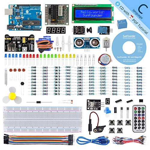 SUNFOUNDER Project Complete Starter Kit Compatible with Arduino IDE, 25 Tutorials Included for UNO R3