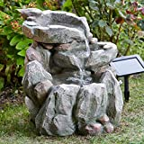 Direct Global Trading Solar Powered Rock Fall Garden Water Feature