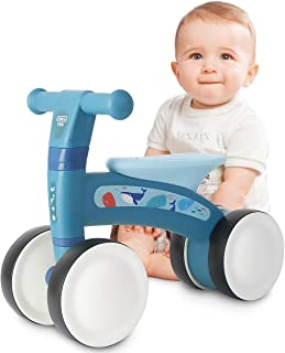 beiens Baby Balance Bikes, Baby Bicycle for 1 Year Old, Toddler Bike Toddler Ride Toys for 9 Months - 24 Months Boys Girls No Pedal 4 Wheels Baby First Birthday Gift Bike
