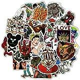 MYOMY Etiqueta engomada Creativa de Dibujos Animados Impermeable Marea Marca Graffiti Trolley Funda portátil Guitarra monopatín Personalidad calcomanía 50 Piezas