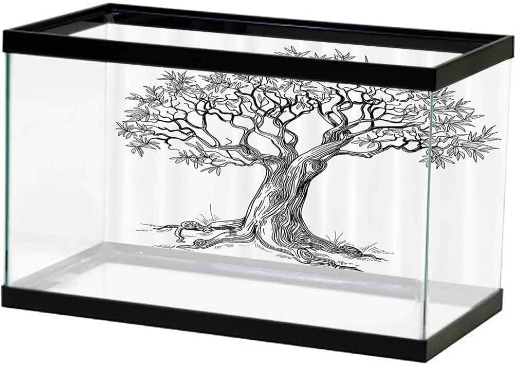 Nature Aquarium Fish Tank Olive Tree in Many popular brands Figure Style Hand San Antonio Mall Drawn