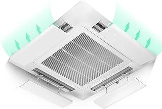 Aire acondicionado deflector de viento Deflector de Aire Acondicionado Central de 4 Paquetes para la Oficina, Deflector Capó de Salida de Aire Frío, Fácil de Instalar, 52 cm / 20,5 Pulgadas