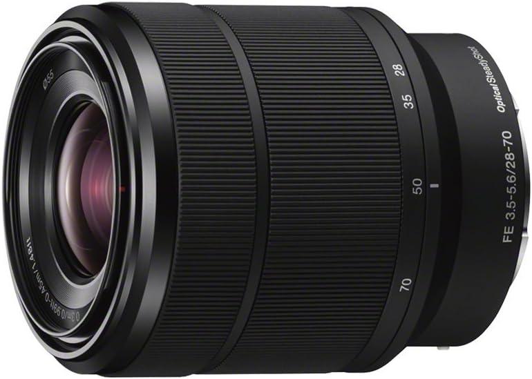 Sony Fe 28-70Mm F/3.5-5.6 OSS - Objetivo para Sony (Distancia Focal 28-70Mm, Apertura F/3.5-36, Zoom Óptico 2.5X,Estabilizador Óptico, Diámetro: 55Mm)